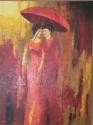 2 dames onder paraplu